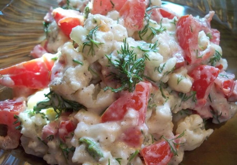 салат з цвітної капусти рецепт
