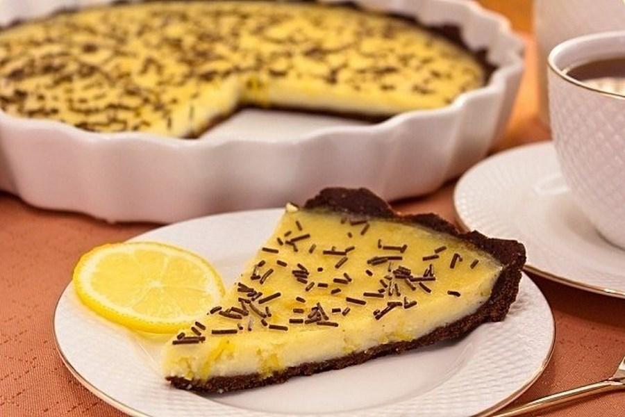 Шоколадно-лимонний пиріг