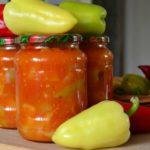 Болгарський перець у томатному соусі, консервований на зиму