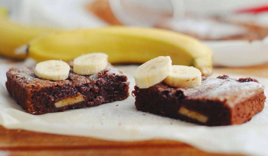 Брауні з бананом