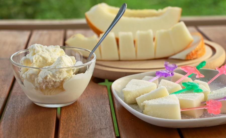 Домашнє морозиво з дині
