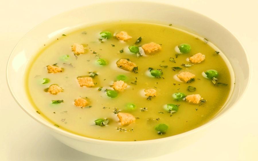 Гороховий суп-пюре з імбиром