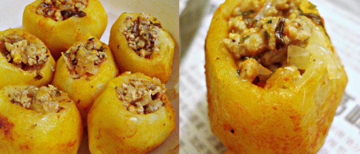 Фарширована картопля у мультиварці | Рецепт з фаршем