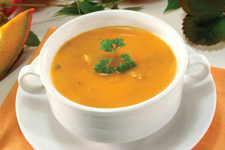 Суп з гарбузом «Осіння палітра»