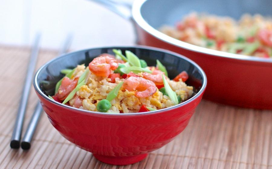 Рис із креветками