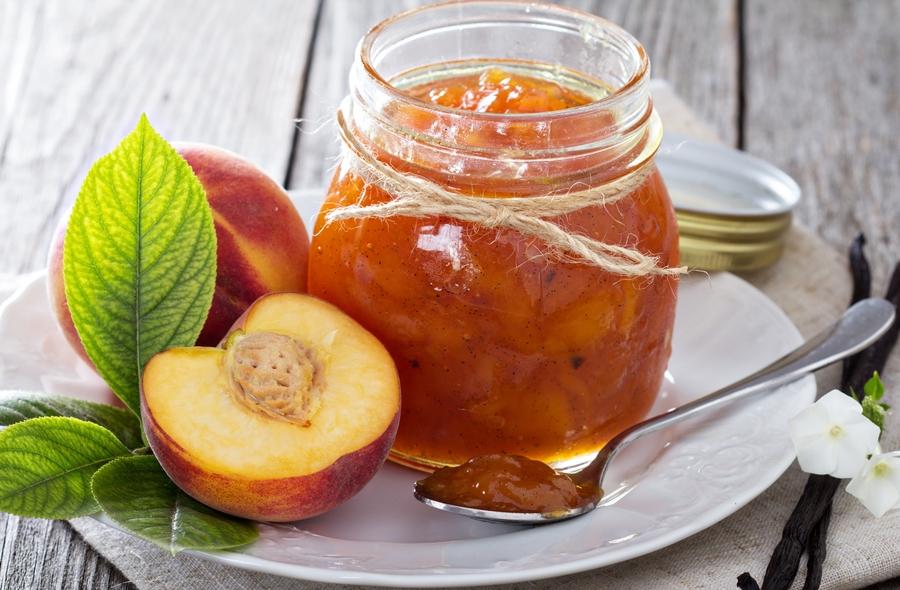 Варення з персиків дольками або персиковий джем з апельсином
