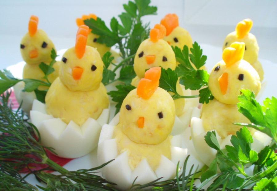 Фаршировані яйця «Курчатка»