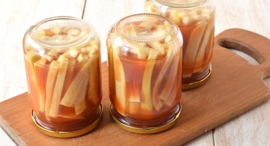 Кабачки мариновані з кетчупом «Чилі» на зиму