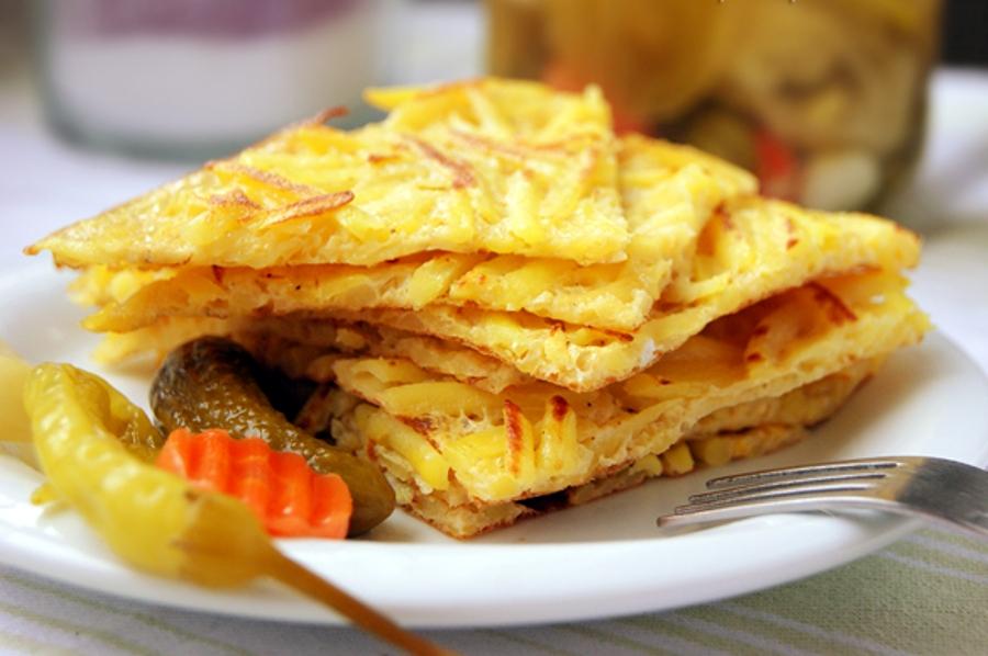Картопля, смажена з яйцями нашвидкуруч