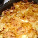 Картопля по-французьки з м'ясом | Рецепт в духовці на сметані