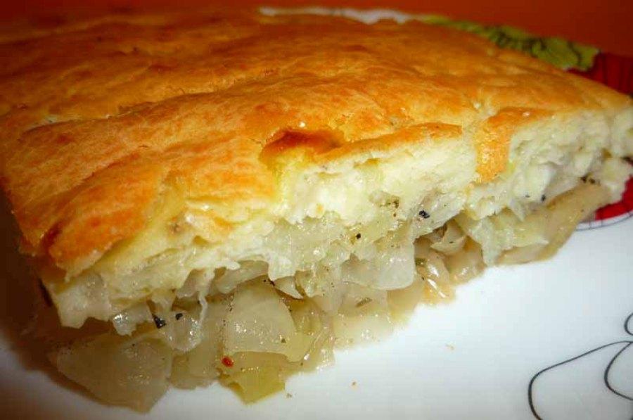 Лінивий пиріг з капустою