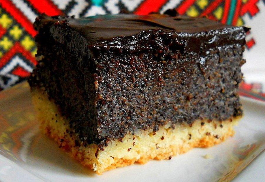 Маково-шоколадний пиріг
