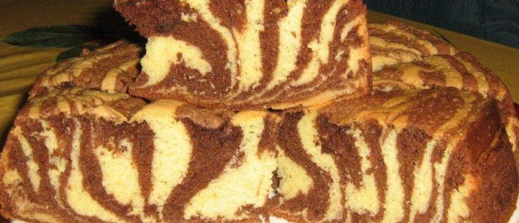 Мармуровий кекс (пиріг) | Випічка в мультиварці на кефірі