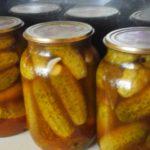 Мариновані огірки з кетчупом «Чилі». Рецепт на літрову банку