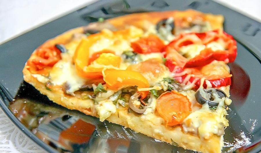 Піца на кефірному тісті