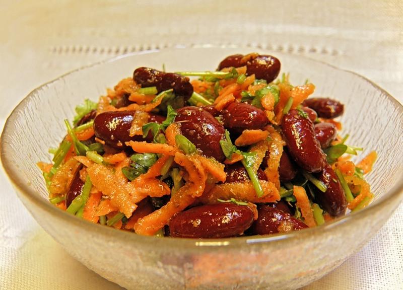 Салат з моркви та квасолі «Зимовий вітамін»