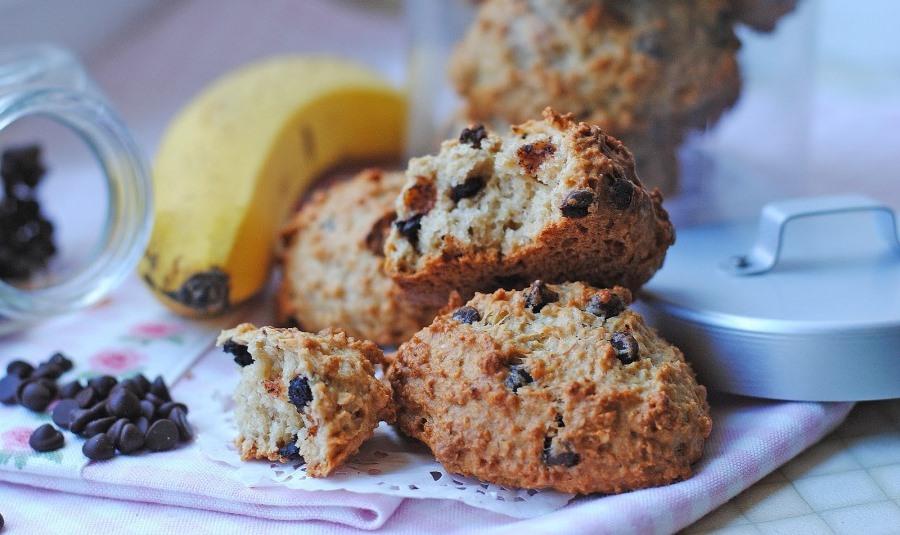 Шоколадне печиво з бананом