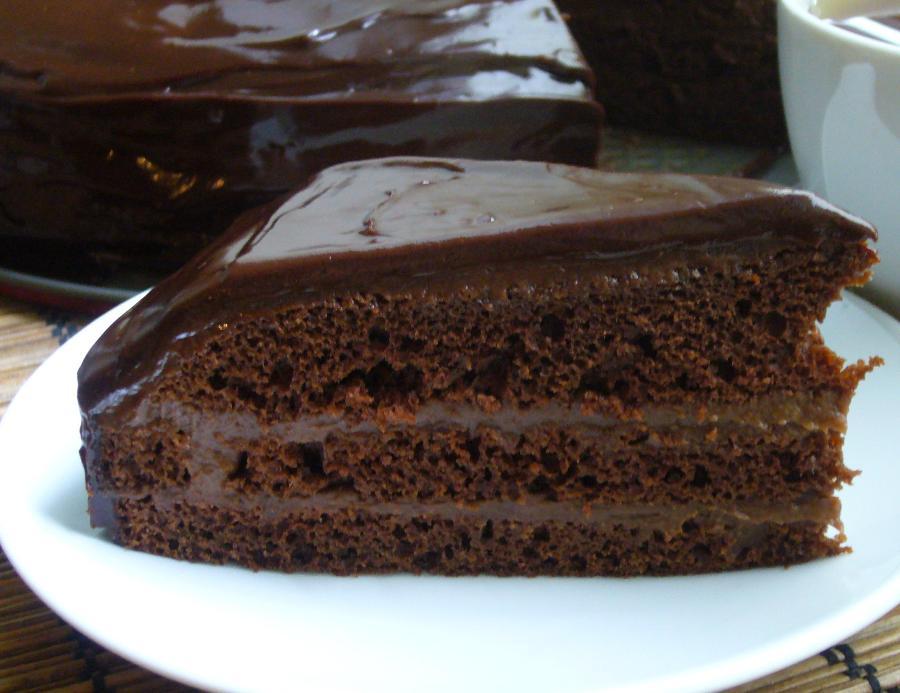 Шоколадно-сметанний торт