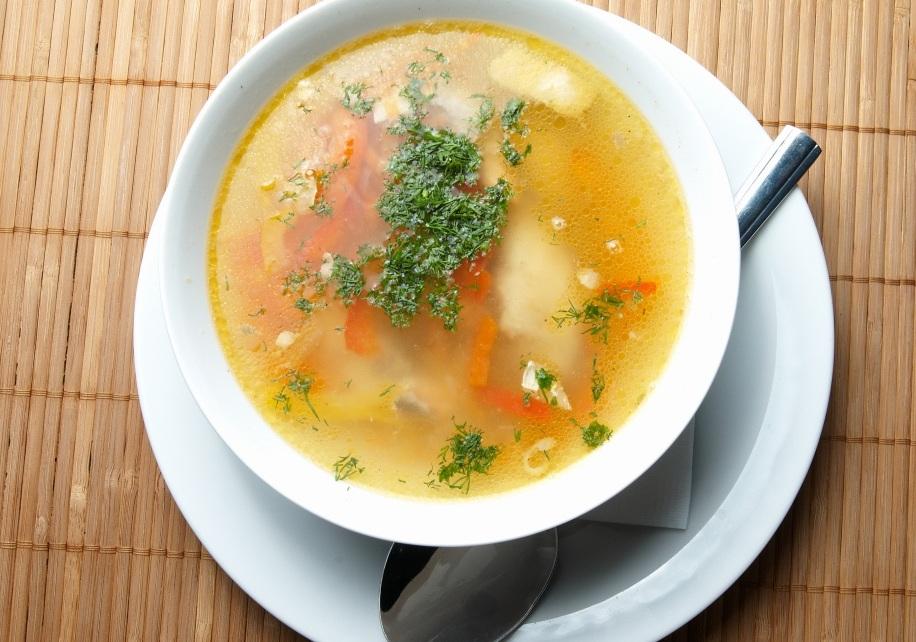 Суп грибний з кльоцками