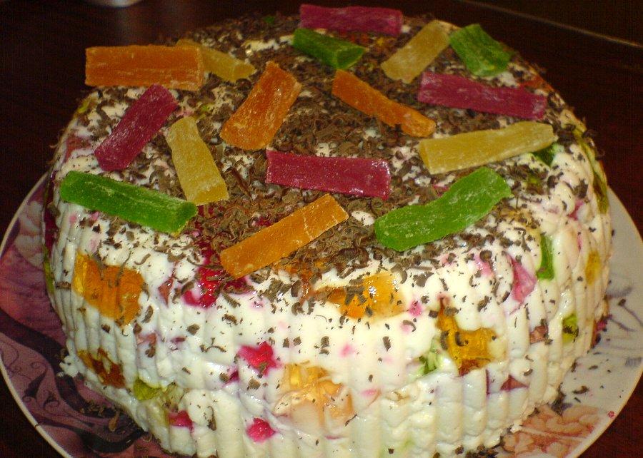 Торт із желе «Мозаїка»