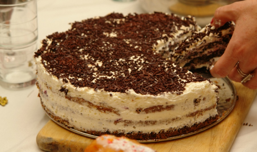 Вершковий торт на сковорідці