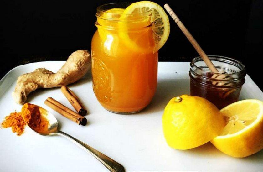 Напої з куркуми, меду, лимону та імбиря
