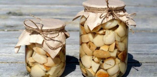 Як закривати мариновані білі гриби на зиму. Маринад на 1 л води