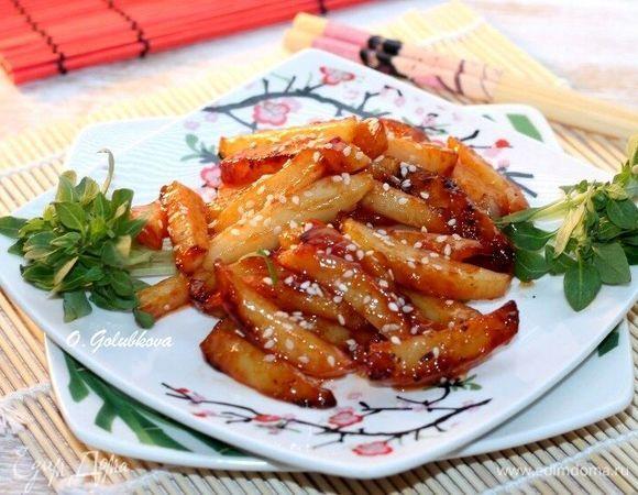 Картопля в медовому соусі