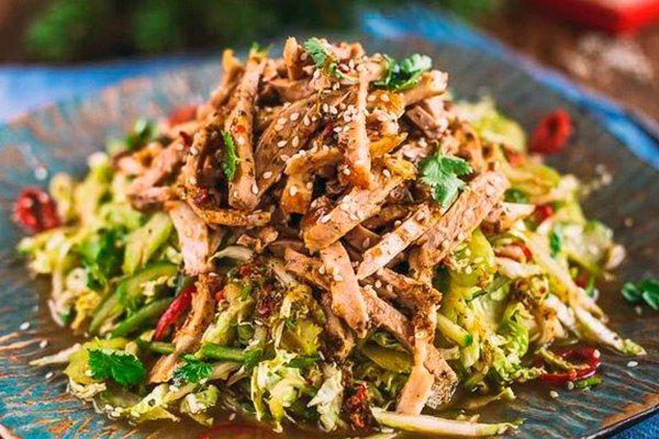 М'ясний салат без майонезу
