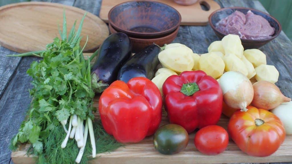 Необхідні овочі для приготування чанахи