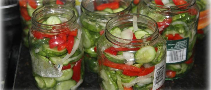 Салат з огірків на зиму | Польський рецепт консервації з гірчицею