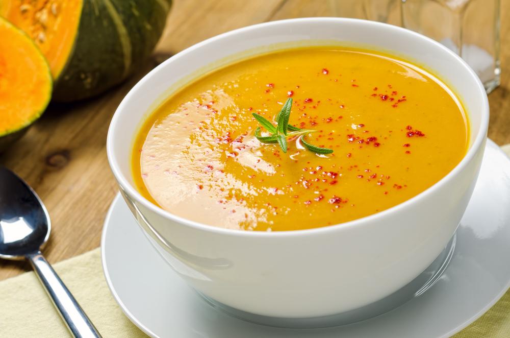 Картопляний суп пюре з гарбузом