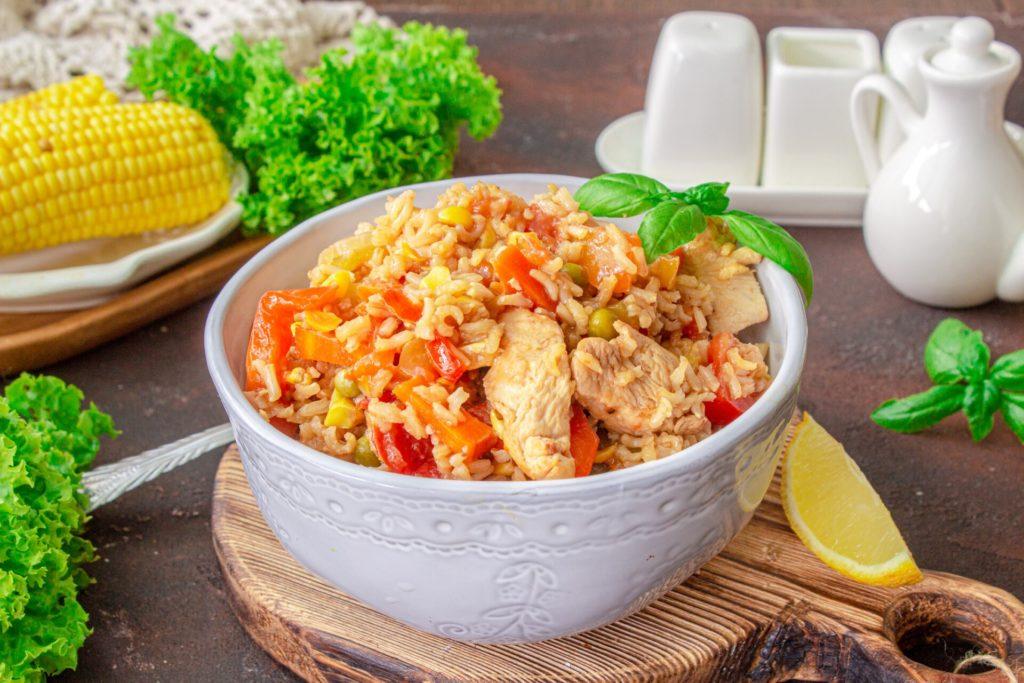8. Дієтичне овочеве рагу з рису