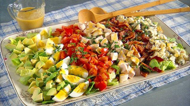 Рецепти салатів купками на тарілці