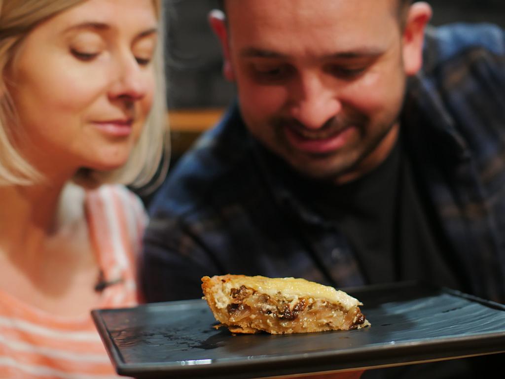Рецепт грибного пирога з цибулею і сиром