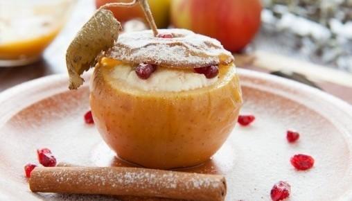 Яблука з сиром