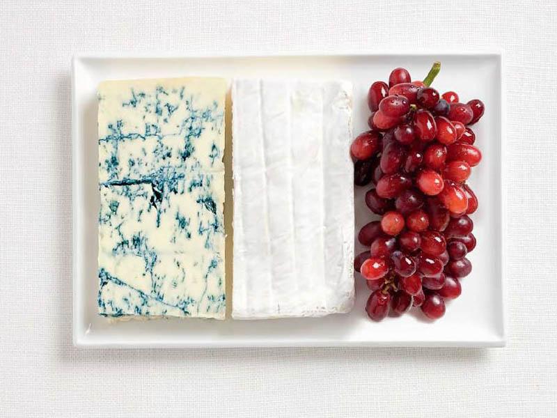 Блакитні сири, сири брі, виноград (Франція)