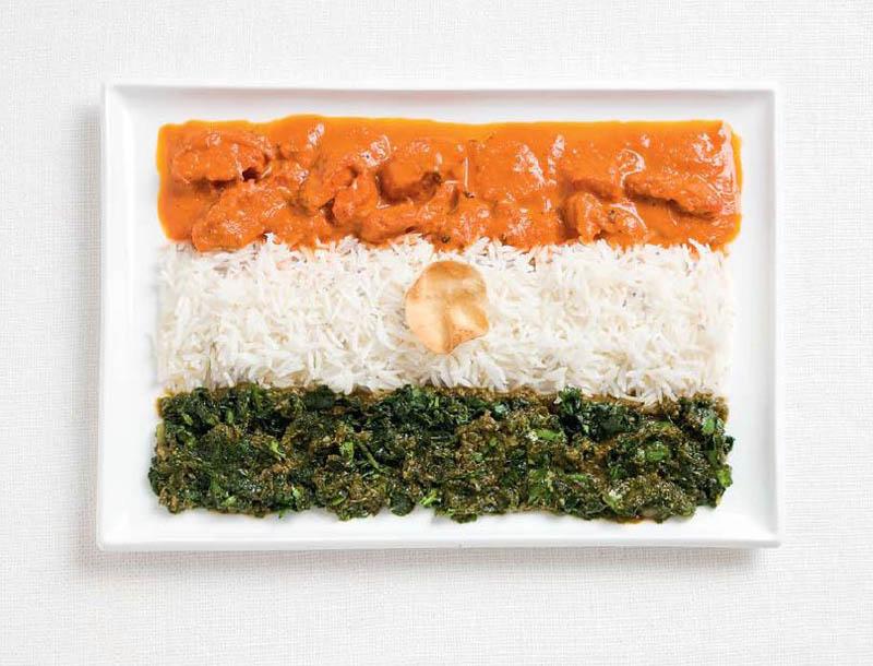 Курка карі, рис, шпинат, індійський крекер (Індія)