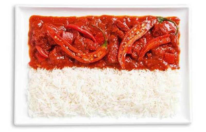 Пряний карі та рис (Індонезія)