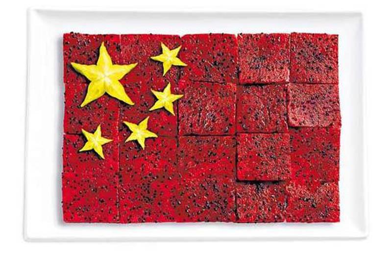 «Плід дракона» (пітайя), карамбола (Китай)