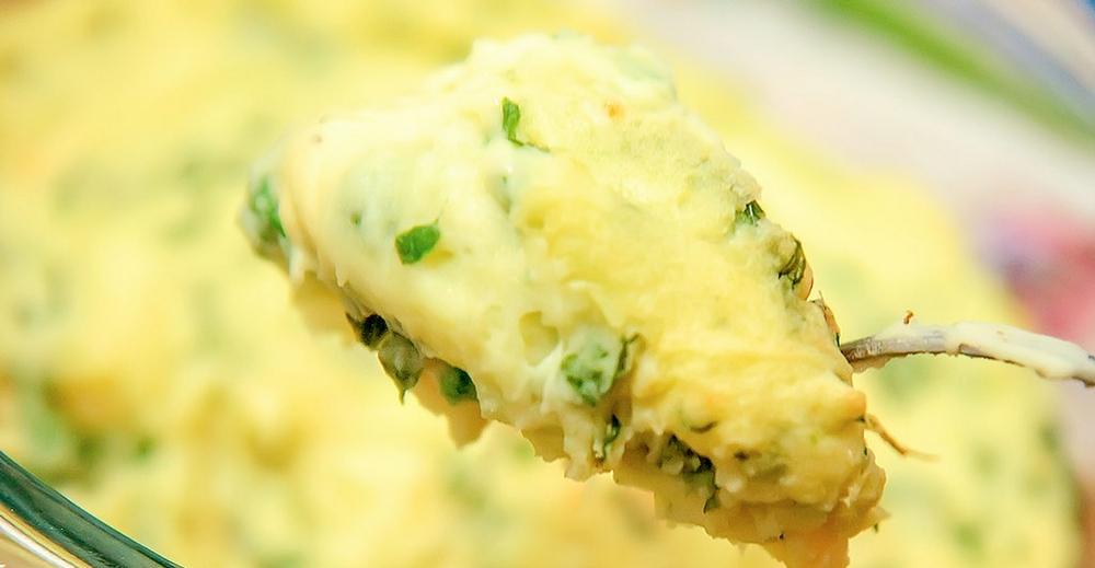 картопляне пюре зі шпинатом