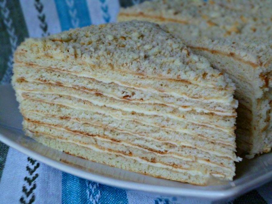 Торт сметанник на сковороде рецепт с фото