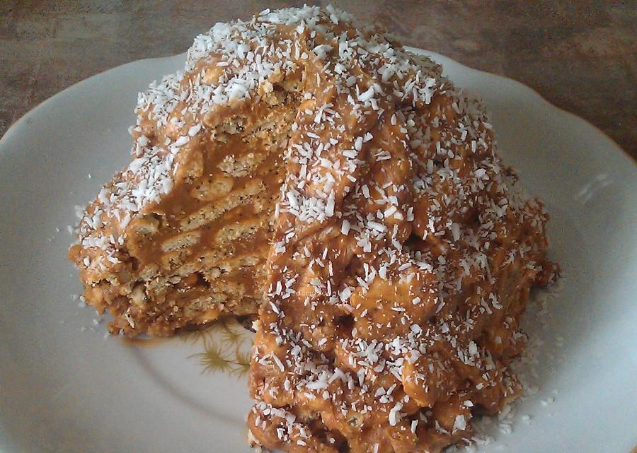 Торт из печенья и сгущенки рецепт с пошагово без выпечки