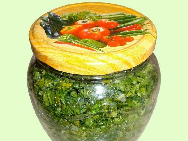 зелень солена