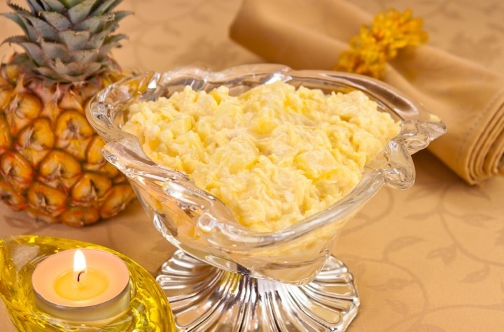 Салат с ананасом сыром и чесноком рецепт