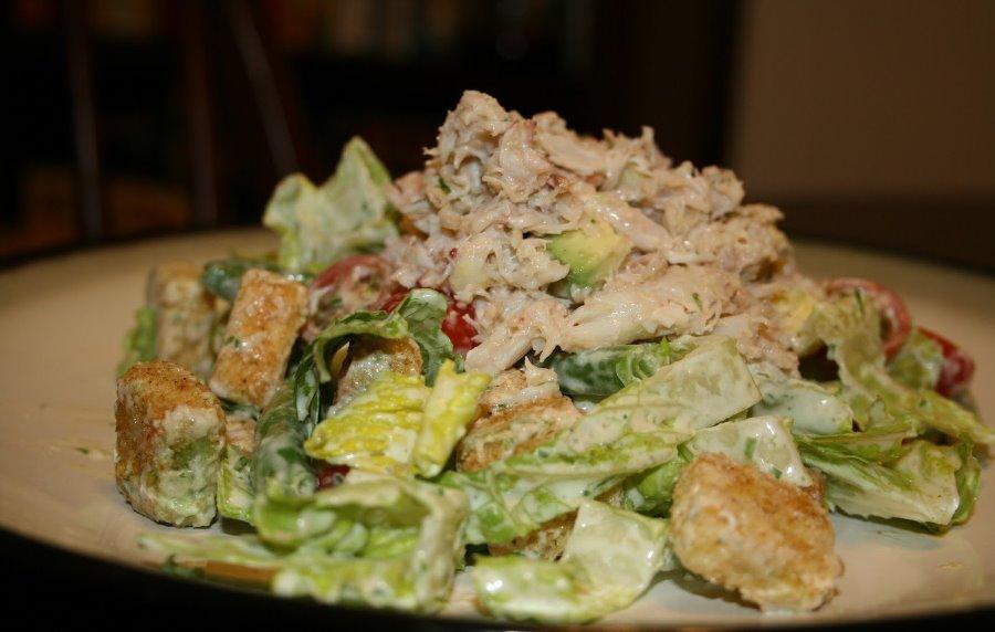 Крабовый мясо салат
