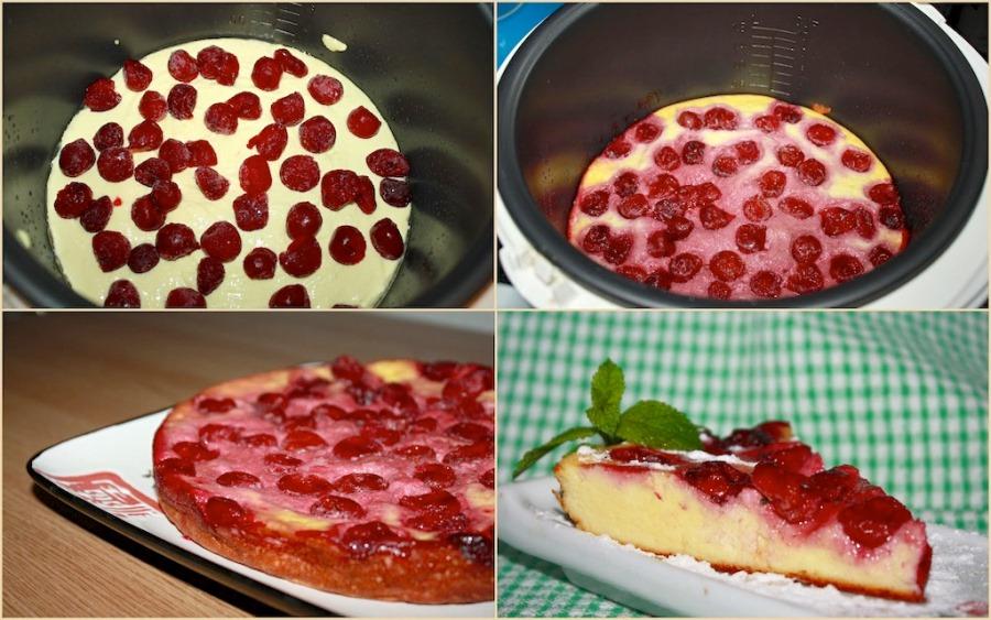 Вишневий пиріг у мультиварці