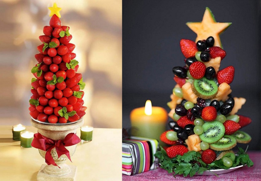 ялинка з фруктів