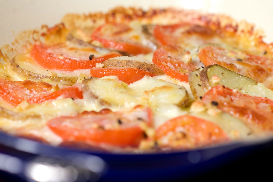 Печені овочі під сиром