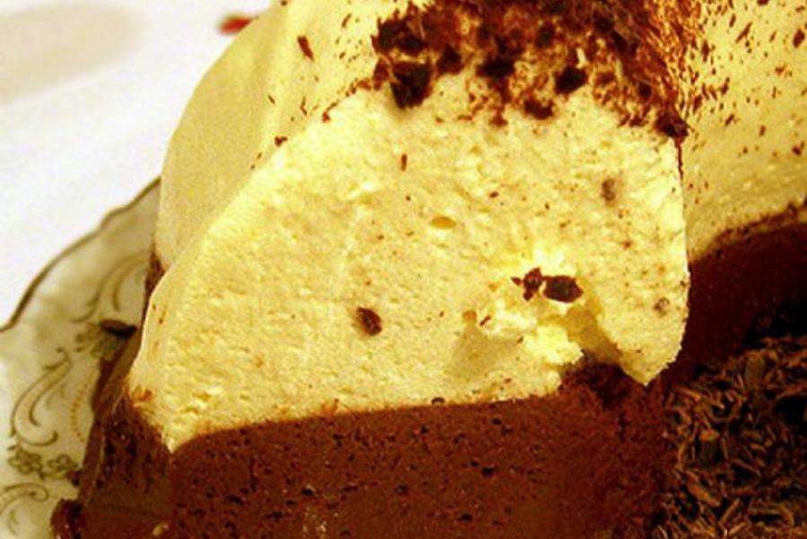шоколадно сирний торт